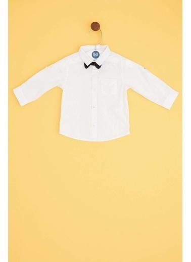 BG Baby Erkek Bebek Beyaz Gömlek Beyaz